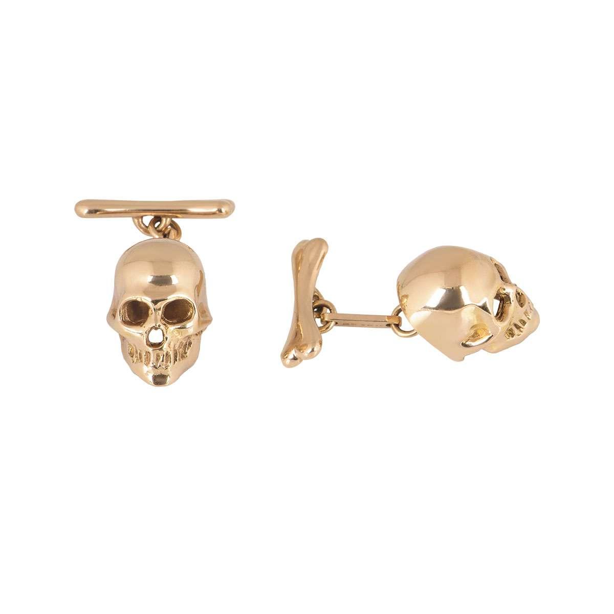 Rose Gold Skull Cufflinks